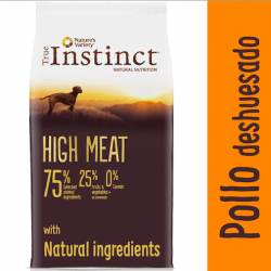Alimentación True Instinct HIGH MEAT Pollo Medium:Maxi para perro