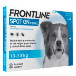 desparasitar perros 3 pipetas frontline spot on 10-20 kg