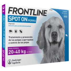 desparasitar perros 3 pipetas frontline spot on 20-40 kg