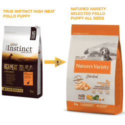 True instinct high meat pollo puppy ahora es natures variety selected puppy pollo all sizes cachorros
